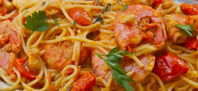 spaghetti gamberi casar